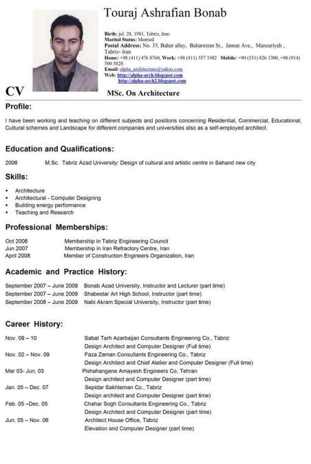 Contoh Curriculum Vitae Roymaun Blog